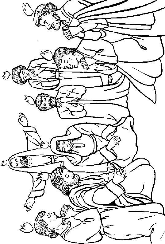 Pentecost christian coloring pages ~ 122 best images about Día de Pentecostés on Pinterest