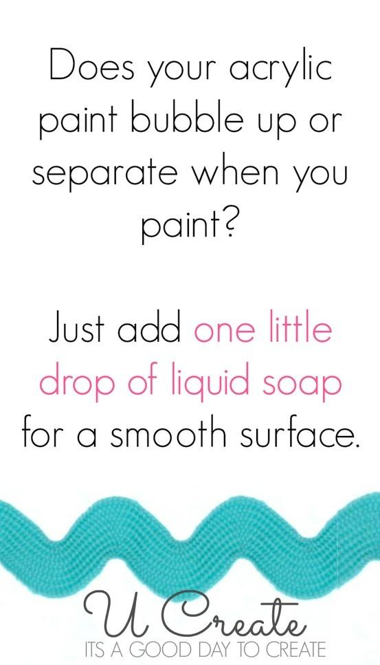 acrylic paint tip!
