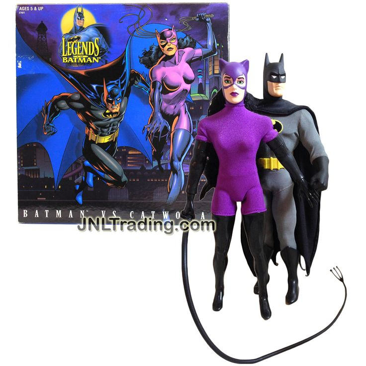 Kenner Year 1996 DC Comics Legends of Batman Series 2 Pack 12 Inch Tall Action Figure Set - BATMAN vs. CATWOMAN with Whip