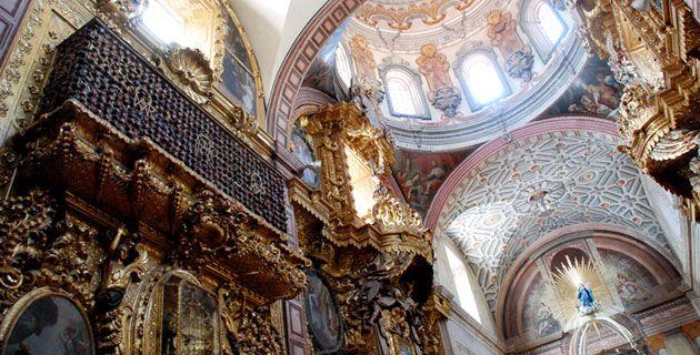 interior iglesia en Queretaro.