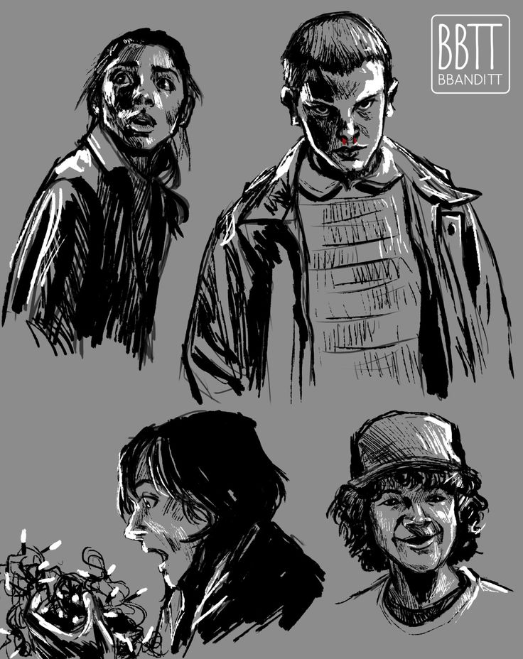 how to draw stranger things characters