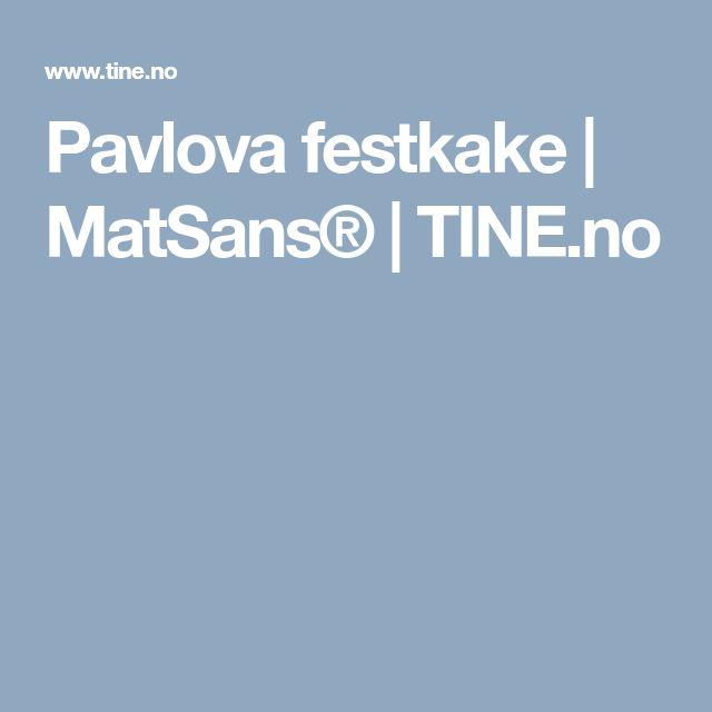 Pavlova festkake | MatSans® | TINE.no