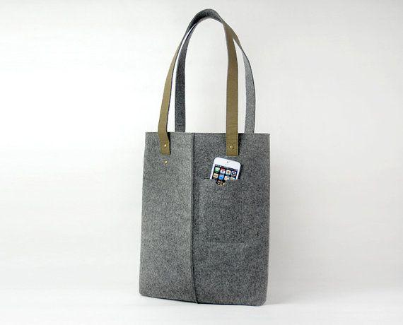 Große Filz-Handtasche Handtasche Schultertasche Messenger Bag Laptoptasche Tote Business Bag E1269c