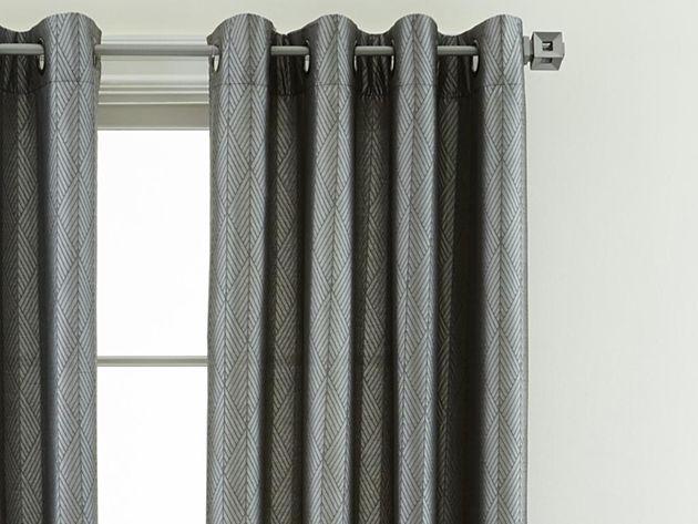 Studio™ Leaves Grommet-Top Curtain Panel in Steeple Gray $23.99