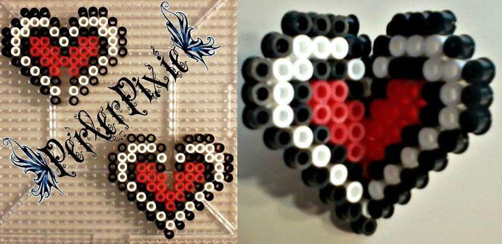 3D Heart Container - Legend of Zelda perler beads by PerlerPixie