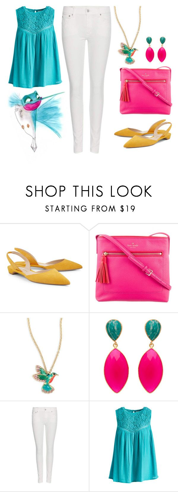 """Flit"" by aimee716 on Polyvore featuring Paul Andrew, Kate Spade, Polo Ralph Lauren, Jennifer & Grace, pocahontas, Flit and disneybounding"