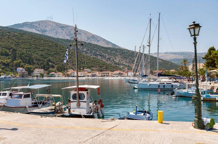 Agia Efffemia on the east coast of Kefalonia in Greece