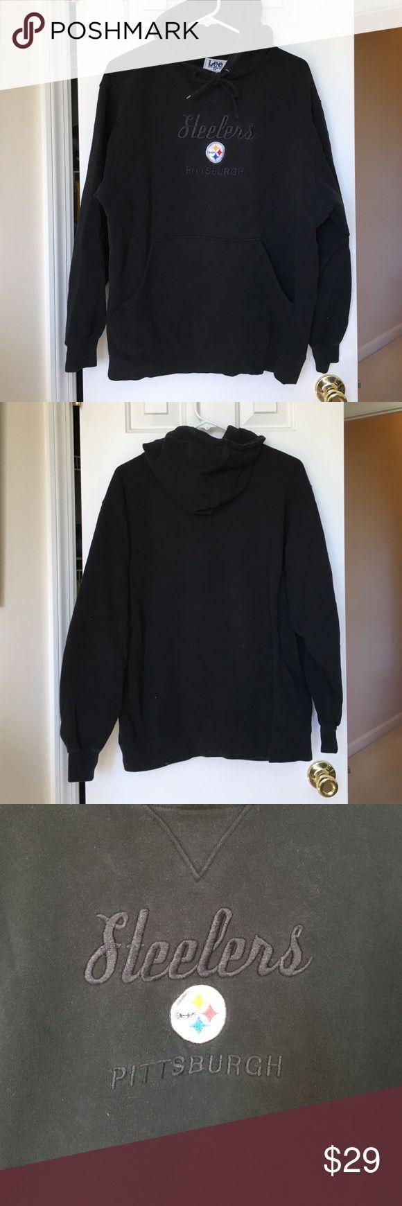Men's Steeler sweatshirt/hoodie. Never worn Black Steeler Hoodie/Sweatshirt with pocket pouch in front. New. Washed but never worn. Lee Shirts Sweatshirts & Hoodies