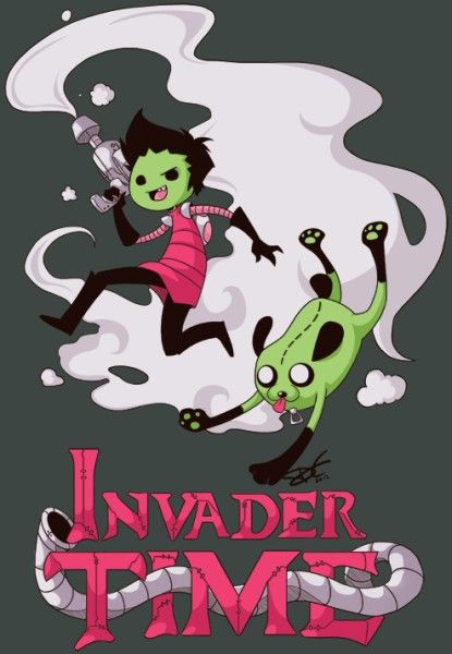 Adventure Time & Invader Zim.. two of my favorite shows combined into one awesome picture.