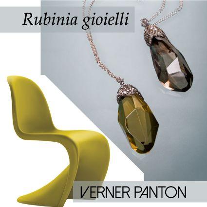 MILANO | SALONE DEL MOBILE: Rubinia gioielli e le ICONE del DESIGN: panton chair Verner Panton ciondoli Rubinia gioielli www.rubinia.com