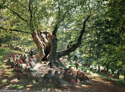 Robin des Bois et ses joyeux drilles - (1) de Edmund George Warren (1834-1909, United Kingdom)