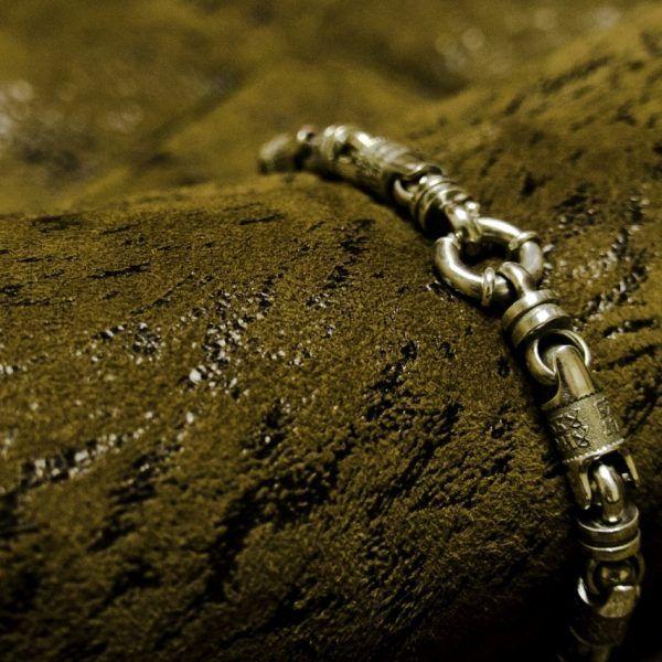Браслет с молитвой мытаря, серебро | Кустодия-творческая мастерская. Ювелирные украшения ручной работы./ Цепи и браслеты золотые и серебряные/