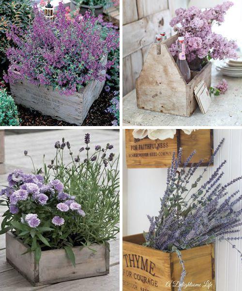 Maceteros de madera reciclada i gardening pinterest - Macetero de madera ...