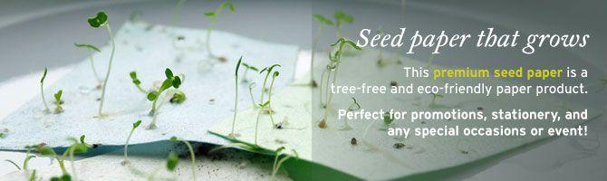 PLANTABLE paper?!: Plantable Paper, Wedding Invitations, Greeting Card, Paper Cards, Green Wedding, Plantable Wedding