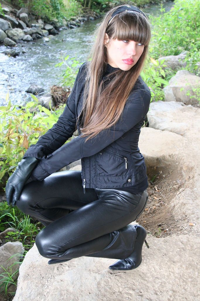 Lederlady Leather Outfit Leather Pants