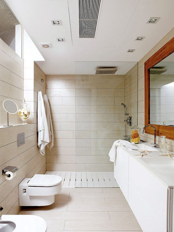 Un #baño totalmente white #ducha #lavabo