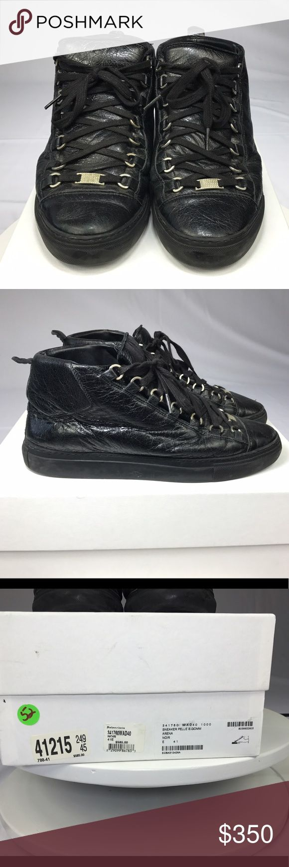 Balenciaga Arena Sneakers (Black) Size 41 Black Balenciaga Arena Sneakers. Size 41. My US men's shoe size is 9. These shoes are used but still in great shape! Balenciaga Shoes Sneakers