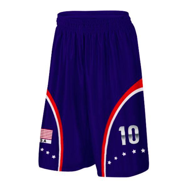 USA Basketball Shorts With Custom Number