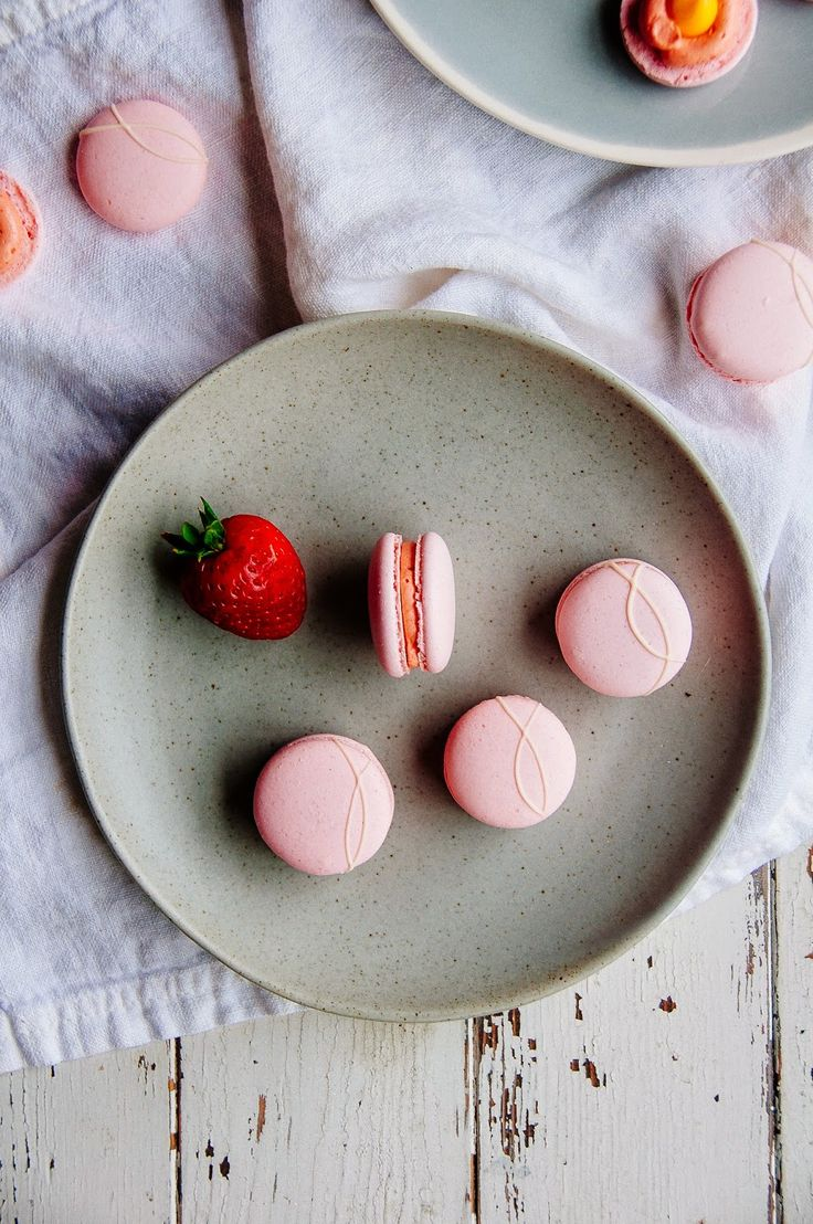 Strawberry Passion Fruit Macarons