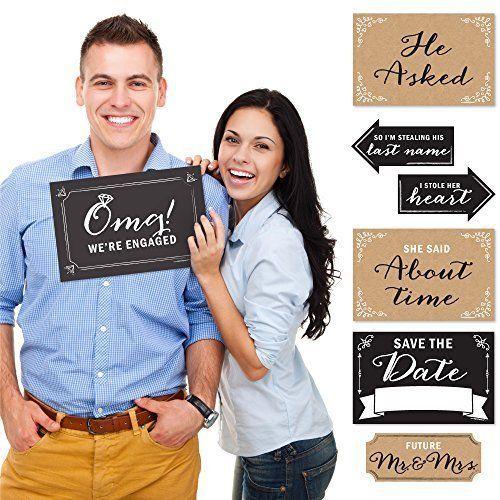 Engagement Announcement - Photo Prop Kit - 10 Count #NotApplicable