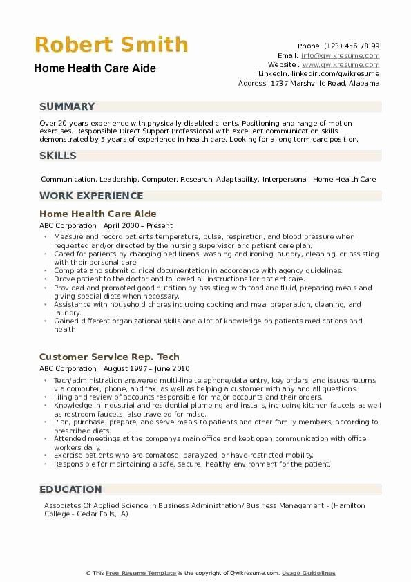 Home Health Aide Resume Samples Inspirational Home Health Care Aide Resume Samples Home Health Aide Health Care Aide Home Health Care