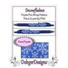 Bead Pattern Peyote(Pen Wrap/Cover)-Snowflakes