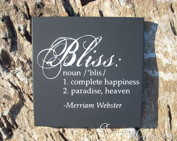 BLISS Definition - Square Wooden Sign - You Choose Colors, Custom Made - Favorite saying wood sign