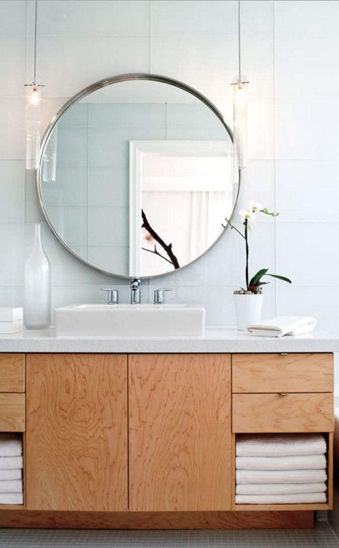 Extra large round bathroom mirror bathrooms pinterest for Extra large round mirror
