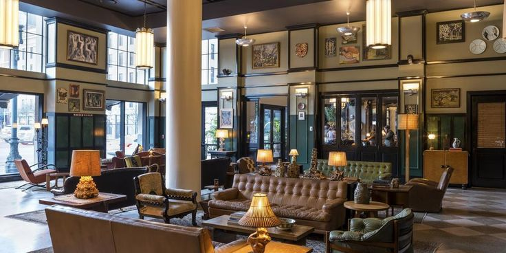 Located in the Warehouse District of New Orleans, the hotel is decorated with artwork from local artists and friends of the property.