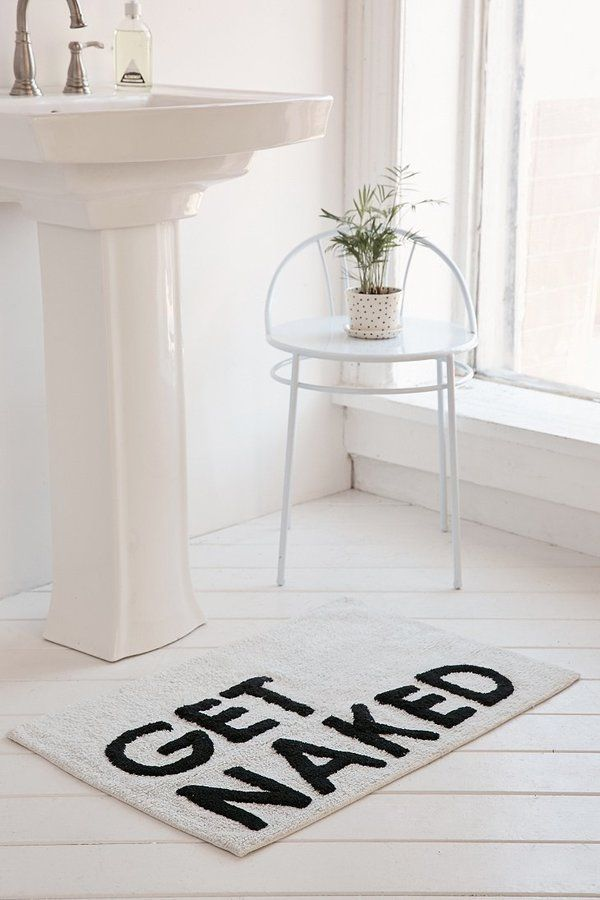 Httpsipinimgcomxceececeecefbc - Black white bath rug for bathroom decorating ideas
