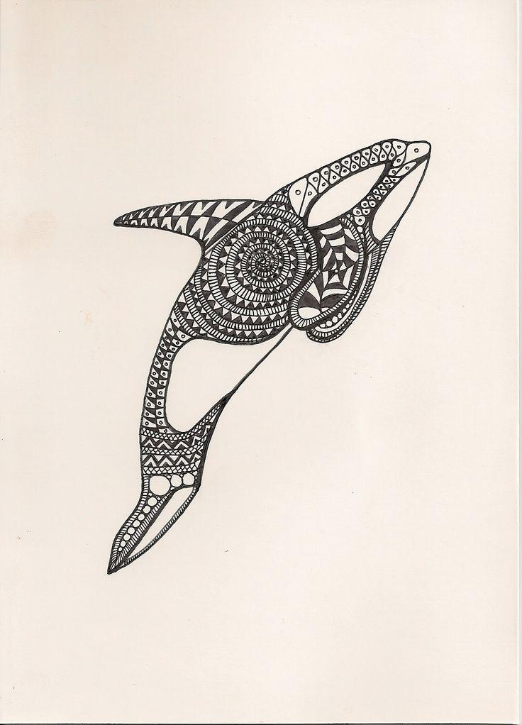Эскизы тату киты касатки картинки
