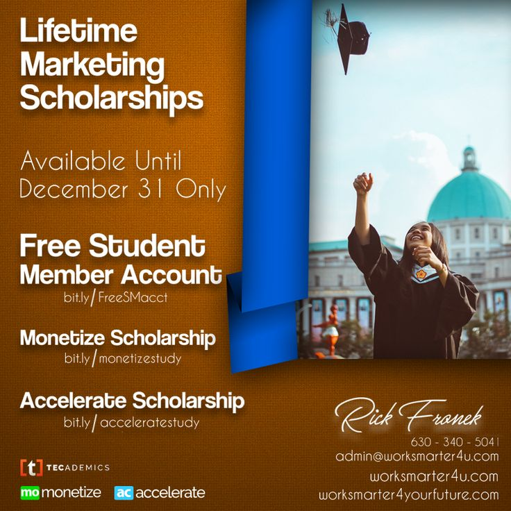 To find out more about Tecademics and their Time Sensitive Lifetime Marketing Scholarships and how they are setting a PRECEDENT in Continuing Education: Create A Free Student Member account http://001010.tcdmcs.com/student Accelerate Lifetime Scholarship (choose 10 courses) http://001010.tcdmcs.com/accelerate Monetize Lifetime Scholarship (choose 30 courses) http://001010.tcdmcs.com/monetize Hurry Lifetime Scholarships end 12/31 @ 11:59 pm PST