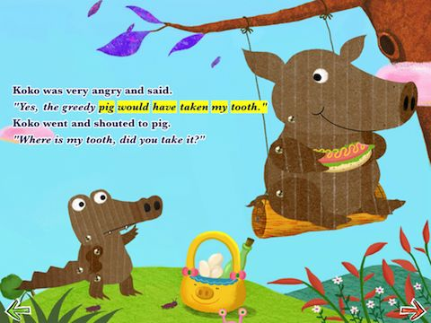 """Koko shouted to pig """"Where is my tooth?"""""""
