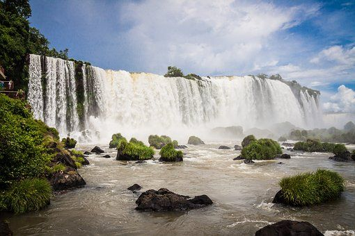The beautiful Iguassu waterfall in Brazil.  What's your favorite Brazilian destination?  Rate and review it at DestinationRecommended.com today!  #Brazil #Brasil #VisitBrazil #VisitBrasil