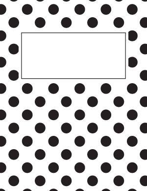 Black and White Polka Dot Binder Cover