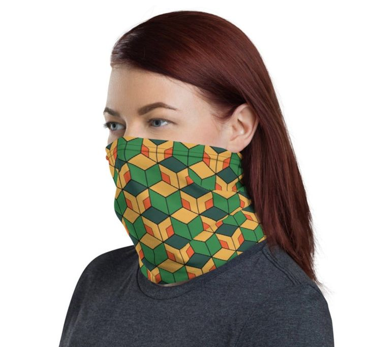 Anime face mask cool anime neck gaiter face cover mask