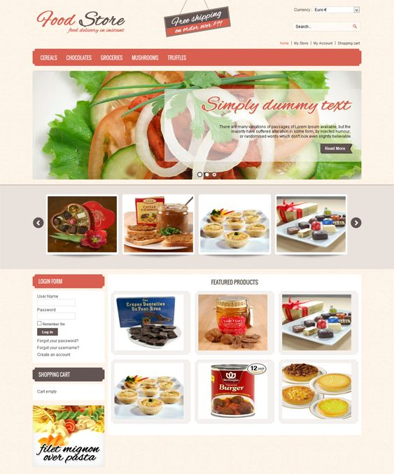 This VirtueMart template includes a homepage featured content slider, cross-browser compatibility, easy customization, speed and SEO optimization, custom blocks and product catalog pages, PSD files, multiple layout options, and more.