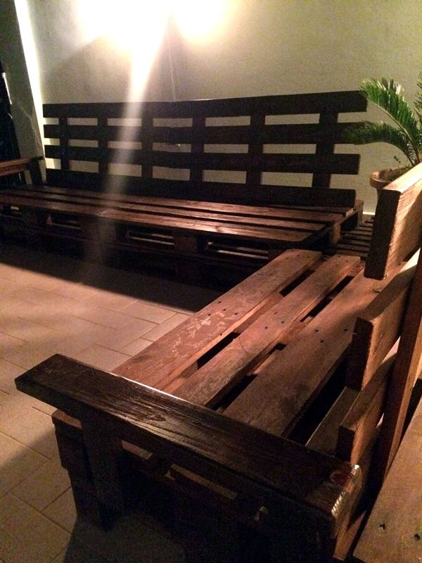 Cheap outside pallets bench divano handmade artisanal - Come utilizzare i pallet per arredare casa ...