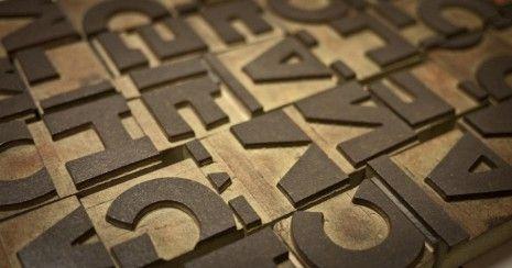 Tipografia Negro, de Lucian Bernhard con errorres de fresado.
