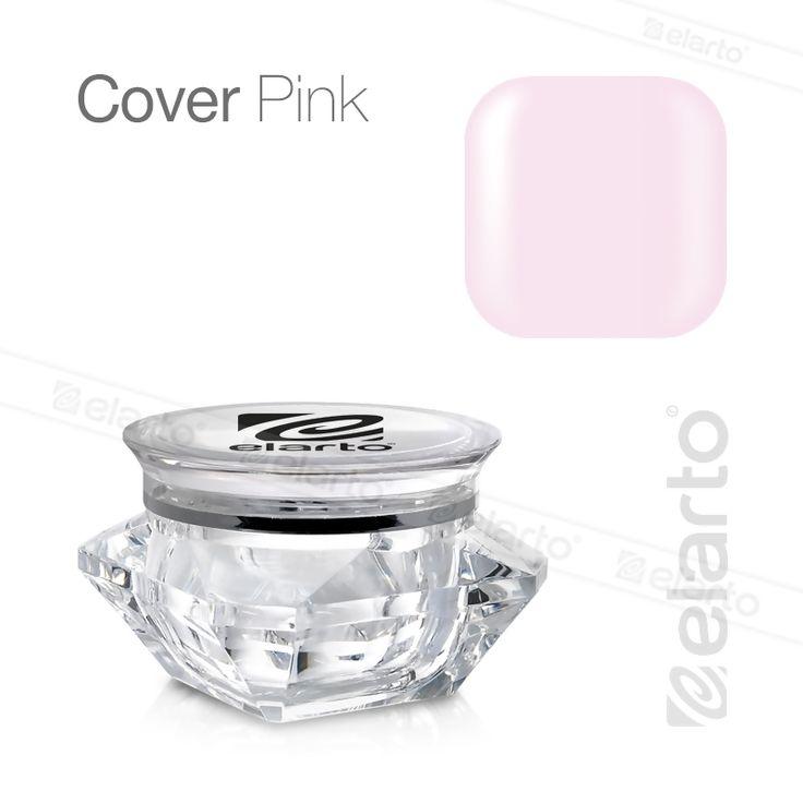 Żel średniogęsty różowy kamuflaż Cover Pink 30g #elarto #cover #pink