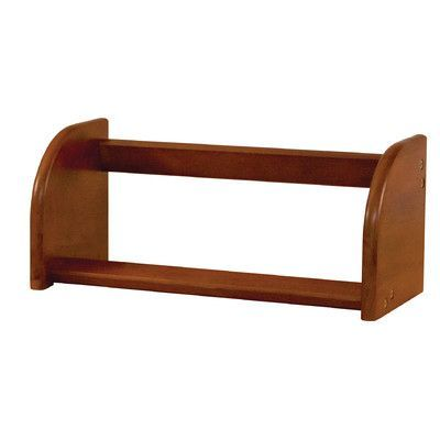 "Catskill Craftsmen Tabletop Accent Shelves Bookcase Size: 7.75"" H x 18"" W x 7.75"" D, Finish: Walnut"