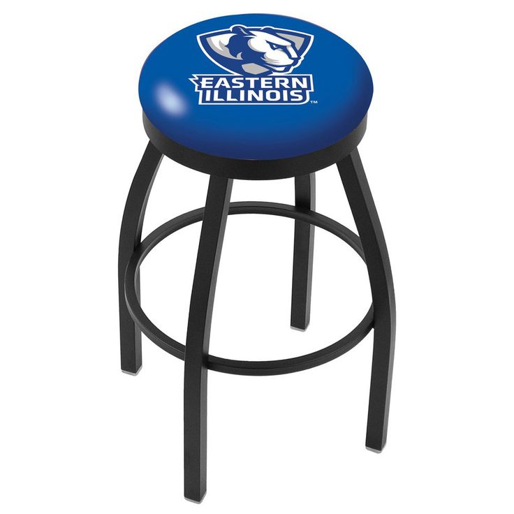 Eastern Illinois Panthers Swivel Bar Stool w/ Accent Ring