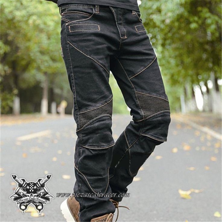 """Pantalones de Moto Vaqueros Modelo """"Keblar Jeans"""" con Protecciones Color Negro Vaquero - 95,99€ - ENVÍO GRATUITO EN TODOS LOS PEDIDOS"""