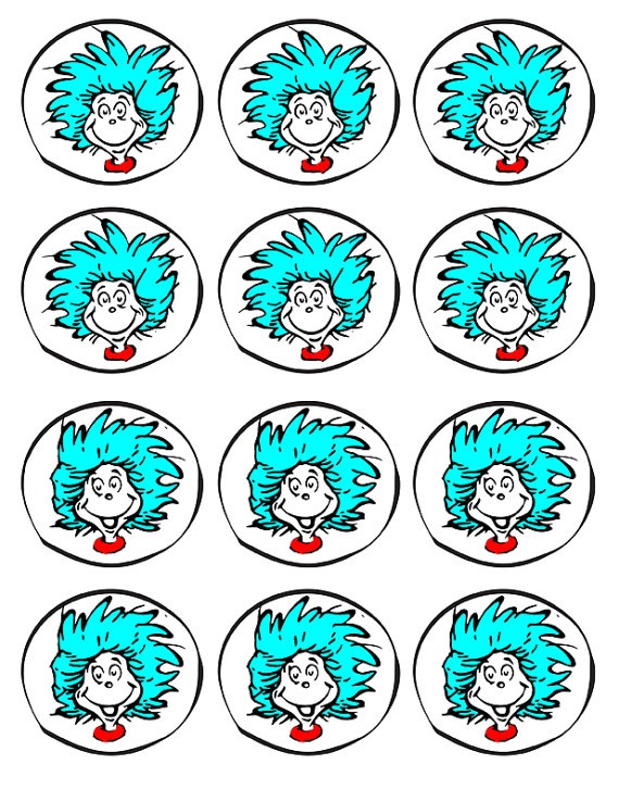 Cat in the Hat party printables - THING 1 & THING 2 on Etsy, $2.00