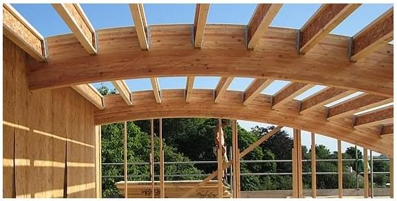Best curved beams images on pinterest exposed