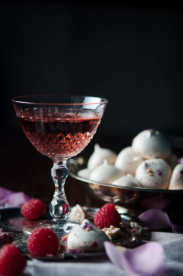 The Rose- ¼ oz. crème de cassis Prosecco 3-4 drops rose water (or to taste) Glass: flute or coupe  Pour the crème de cassis into the bottom of your chilled glass. Top with prosecco to taste and add the rose water.