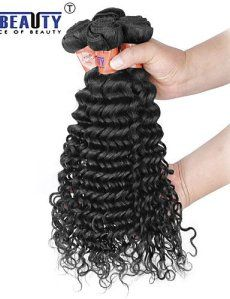 JFLDMA® 3 pièces / lot 8 «-28» 8a extensions indien premières non transformées de vague profonde de cheveux vierge de cheveux humain…