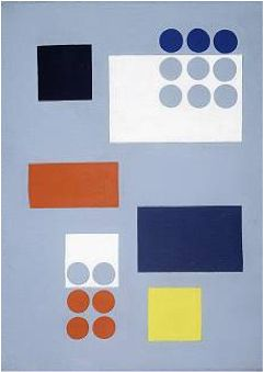 Sophie Taeuber-Arp (1889 - 1943) was a Swiss artist, painter, sculptor, and dancer. She is considered one of the most important artists of geometric abstraction of the 20th century.