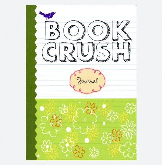 Book Crush Journal filled with prompts to help you record your thoughts on the books, characters and plots you've read.