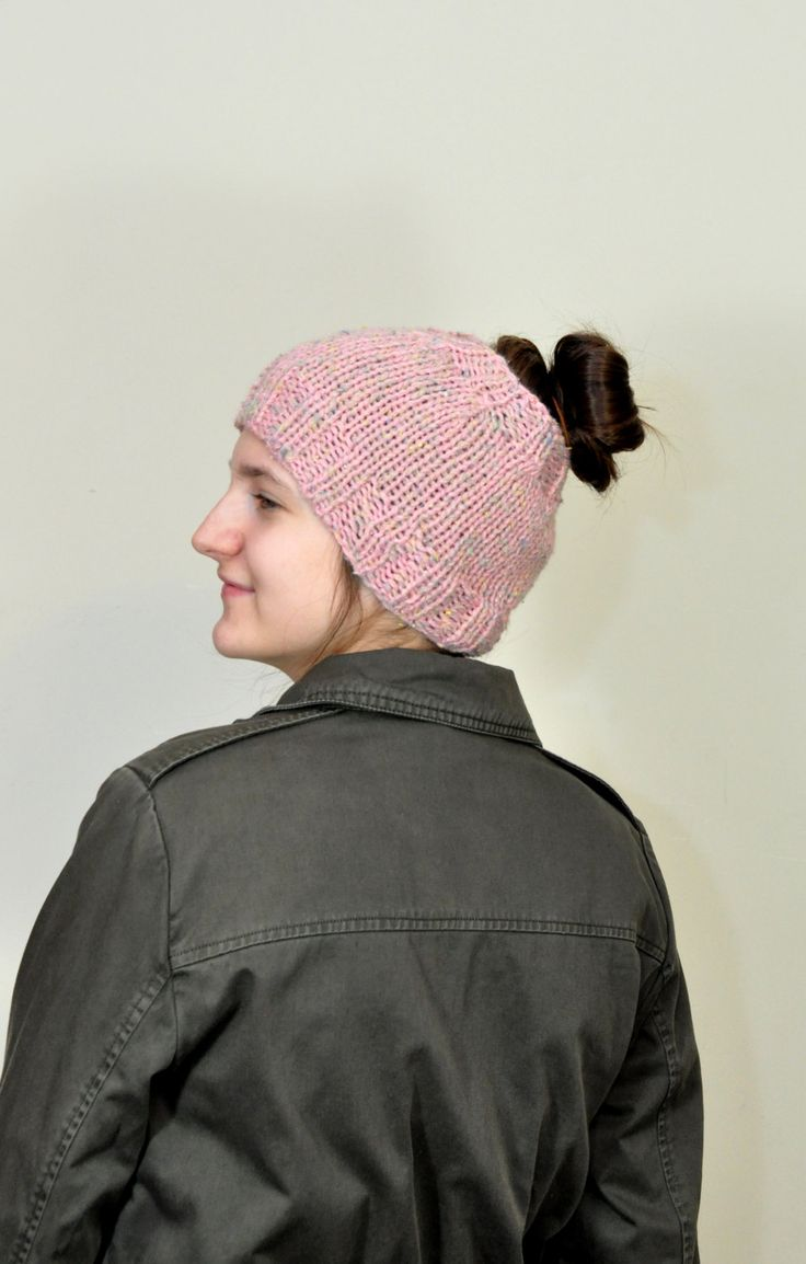 Messy bun beanie, Messy bun hat, Pony tail hat, Ponytail beanie, Woman's hat, Teen girls hat, Winter Hat, Running headband by aboutCRAFTS on Etsy
